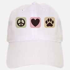 Peace Love Dogs [i] Baseball Baseball Cap
