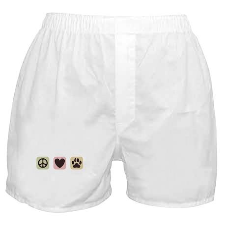 Peace Love Dogs [i] Boxer Shorts