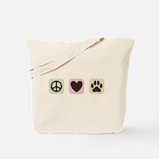 Peace Love Dogs [i] Tote Bag