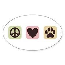 Peace Love Dogs [i] Decal