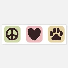 Peace Love Dogs [i] Bumper Bumper Sticker