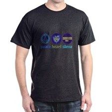 PEACE HEART STENO T-Shirt