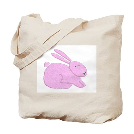 Pink Bunny Tote Bag