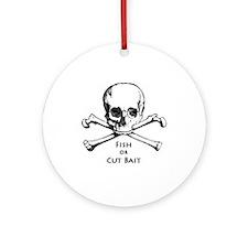 Fish or Cut Bait Logo Ornament (Round)