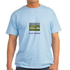 Play Tennis!, Blue T-shirt
