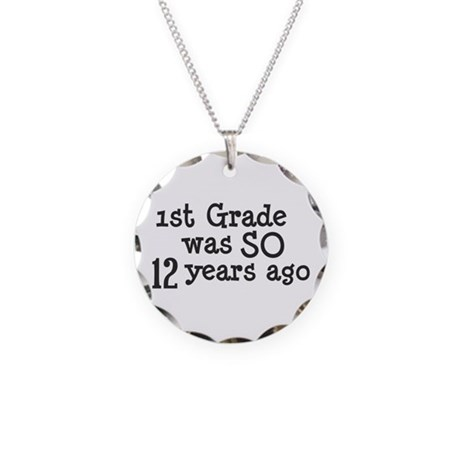 12 Years Ago Necklace Circle Charm
