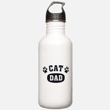 Cat Dad [b/w] Water Bottle
