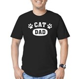 Cat dad Fitted T-shirts (Dark)