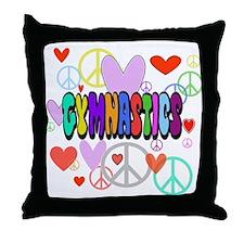 Peace-Love-Gymnastics Throw Pillow