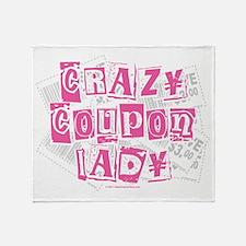 Crazy Coupon Lady Throw Blanket