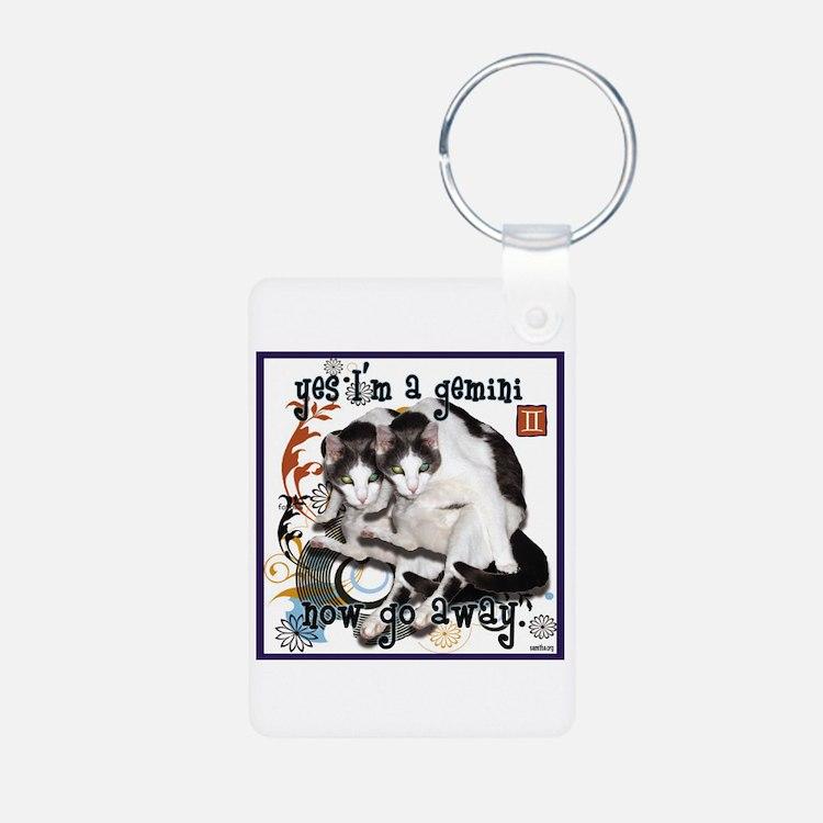 Cat Gemini Keychains