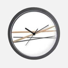 Crossed Drum Sticks Wall Clock
