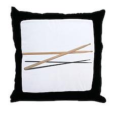 Crossed Drum Sticks Throw Pillow