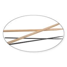 Crossed Drum Sticks Decal