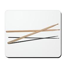 Crossed Drum Sticks Mousepad