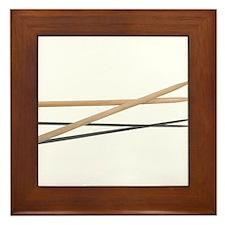 Crossed Drum Sticks Framed Tile