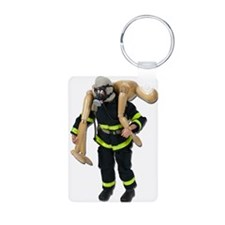 Fireman Carry Person Keychains