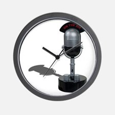 On the Air Pill Microphone Wall Clock
