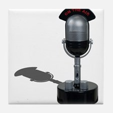 On the Air Pill Microphone Tile Coaster