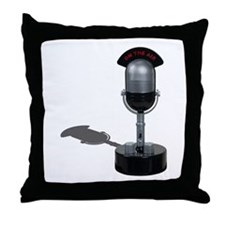 On the Air Pill Microphone Throw Pillow