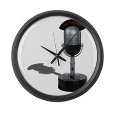 On the Air Pill Microphone Large Wall Clock