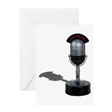 On the Air Pill Microphone Greeting Card
