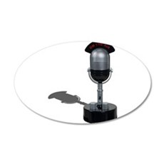 On the Air Pill Microphone 22x14 Oval Wall Peel