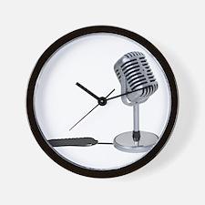 Pill Microphone Wall Clock
