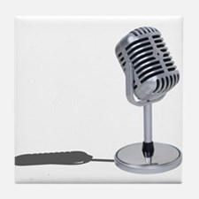 Pill Microphone Tile Coaster