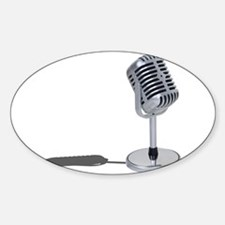 Pill Microphone Sticker (Oval)