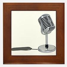 Pill Microphone Framed Tile