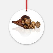 Preserved Cornucopia Ornament (Round)
