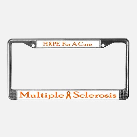 MS License Plate Frame