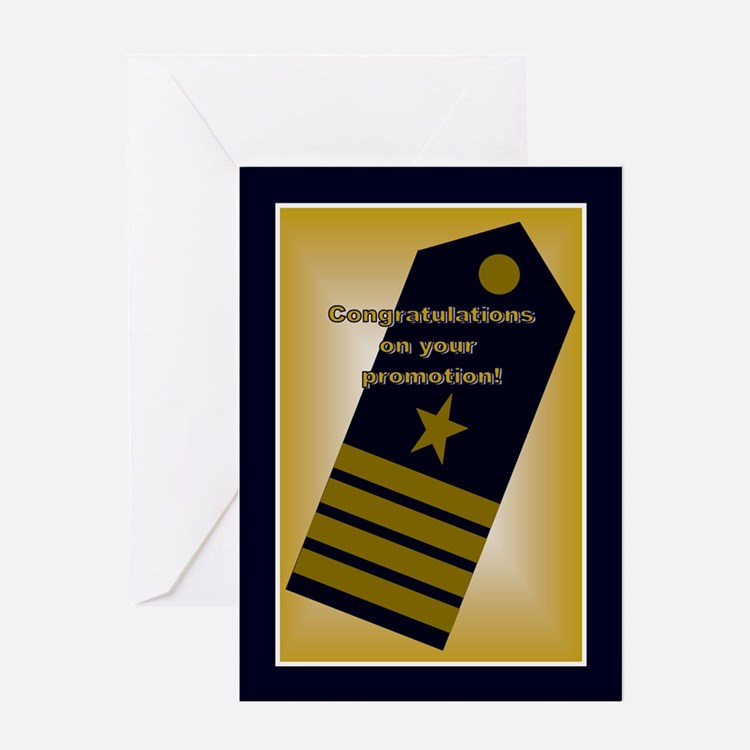 U.S. Navy Captain Promotion C Greeting Card