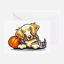 Golden Retriever Player Greeting Card