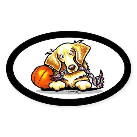 Golden Retriever Player Sticker (Oval 50 pk)