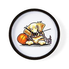 Golden Retriever Player Wall Clock