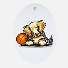 Golden Retriever Player Ornament (Oval)
