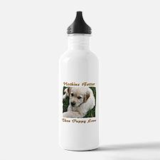 Golden Retriever Puppy Love Water Bottle