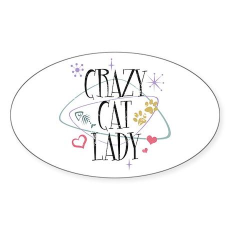 Crazy Cat Lady Sticker (Oval)