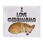 Chihuahua Kiki Throw Blanket