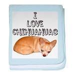 Chihuahua Kiki baby blanket