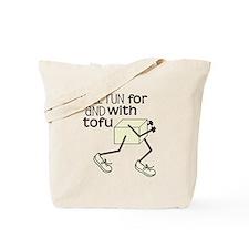 tofu running Tote Bag