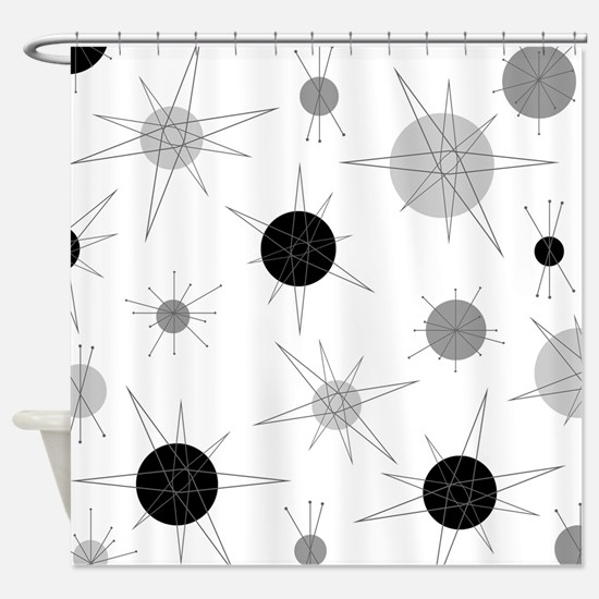 Cute Atomic Shower Curtain