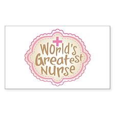 World's Greatest Nurse Decal