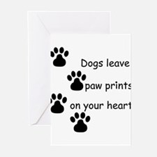 Dog Prints Greeting Cards
