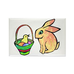 Bunny and Chick Rectangle Magnet (10 pack)