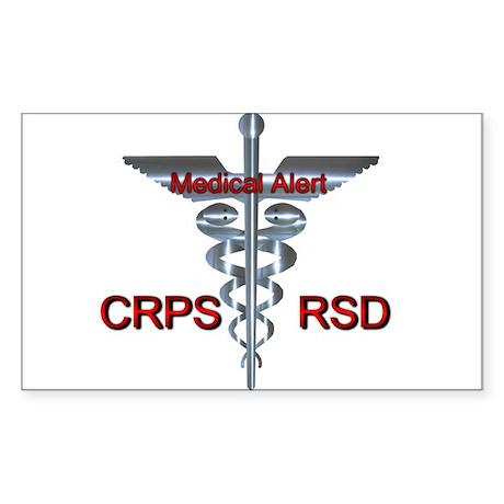 CRPS / RSD Medical Alert Sticker (Rectangle)