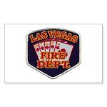 Las Vegas Fire Department Sticker (Rectangle 50 pk