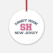 Sandy Hook NJ - Varsity Design Ornament (Round)